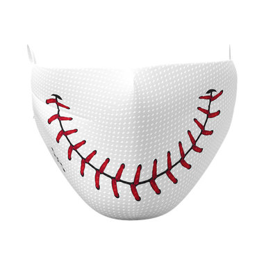 Baseball Smile Elastic Over Ear Face Mask