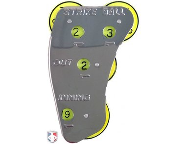 Champro 4-DIAL Optic Yellow Steel Umpire Indicator - 3/2/2 Count